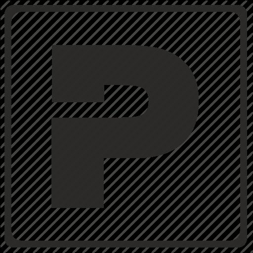 Alphabet, Latin, Letter, Modern, P Icon