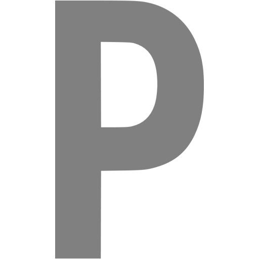 Gray Letter P Icon