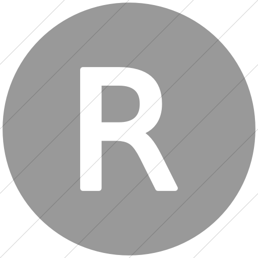 Flat Circle White On Light Gray Alphanumerics Uppercase