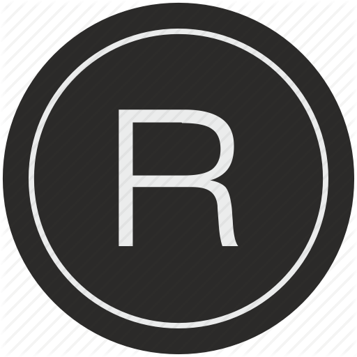 English, Latin, Letter, R, Uppercase Icon