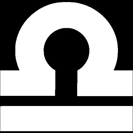 White Libra Icon