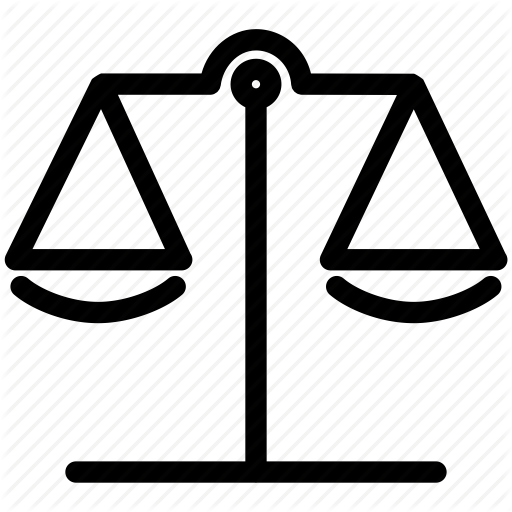 Balance, Equilibrium, Justice, Libra, Measure, Scale Icon