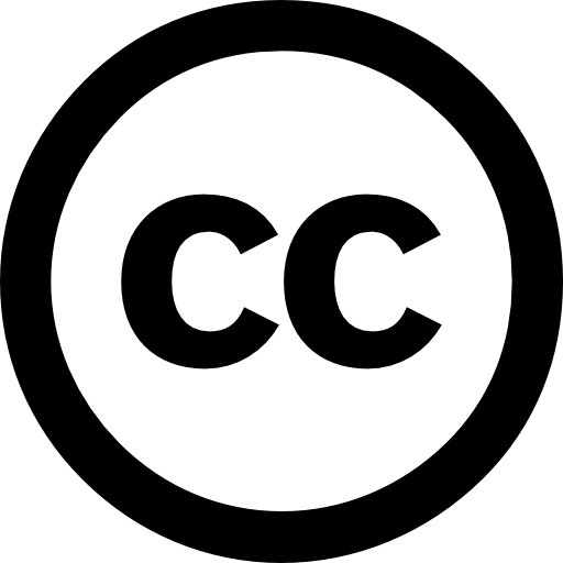 Creative Commons License Symbol Icons Free Download