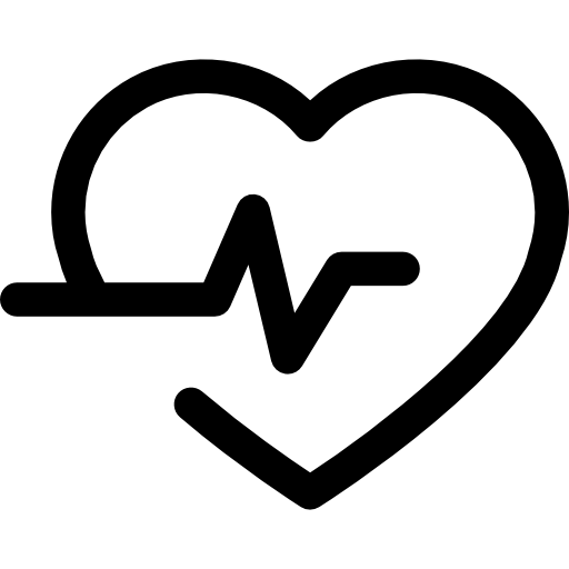 Lifeline In A Heart Outline Icons Free Download