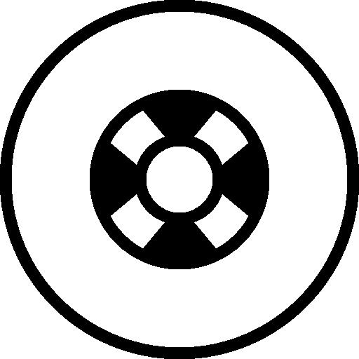 Lifeguard Circular Button Symbol Icons Free Download