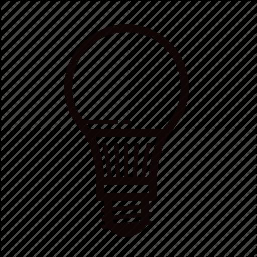 Bulb, Led, Light, Lightbulb Icon