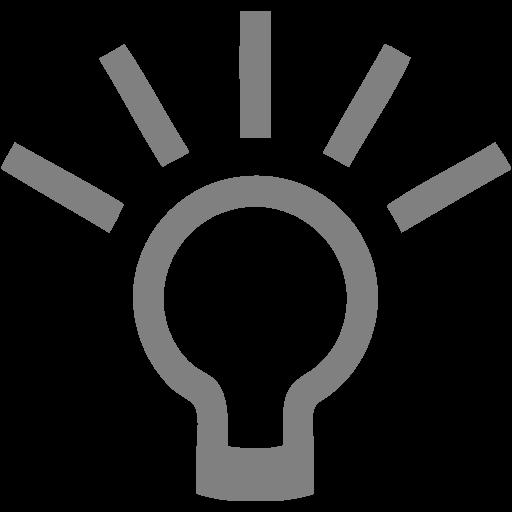 Gray Lightbulb Icon