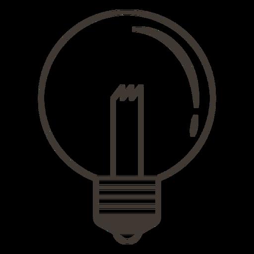 Globe Light Bulb Stroke Icon