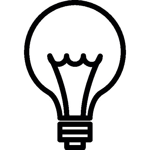 Idea Light Bulb Thin Line, Ios Interface Symbol Icons Free