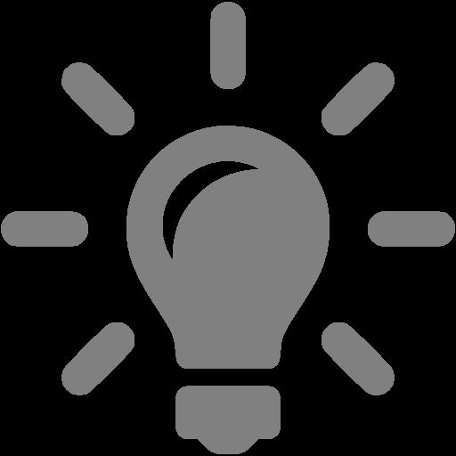 Gray Idea Icon