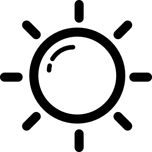 Day, Star, Outline, Sun, Weather, Light, Sunny, Shape, Outlined Icon