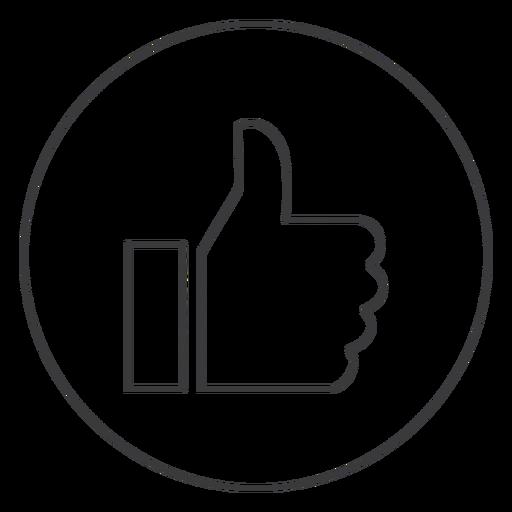 Hand Like Ok Thumb Sign Icon