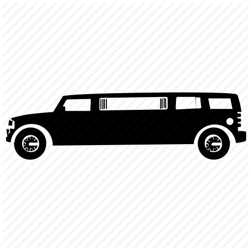 Hummer Limo, Limousine, Lincoln Limo, Luxury Vehicle, Sedan Icon