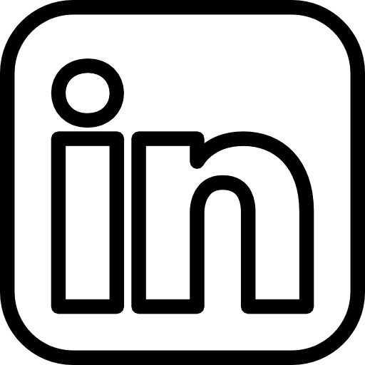 Linkedin Icon Black And White
