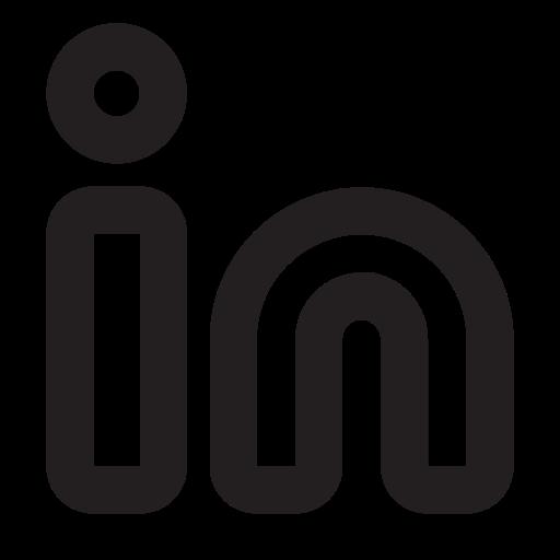 Linkedin, Outline Icon Free Of Eva Outline Icons