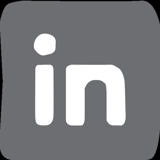 Social Media, Linkedin, Doodle Icon
