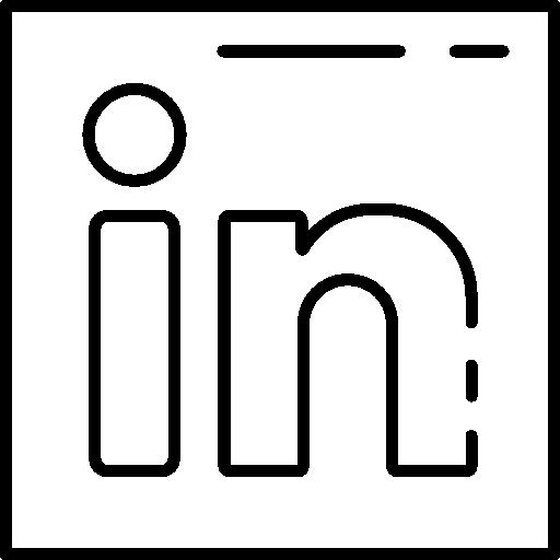 Social Media Linkedin Flat Black Icon