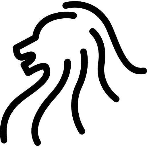 Lion Head Side View Outline Icons Free Download