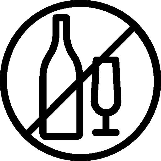 No Alcohol Icons