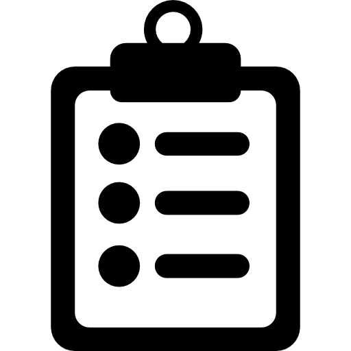 Medical Notes Symbol Of A List Paper On A Clipboard Icons Free
