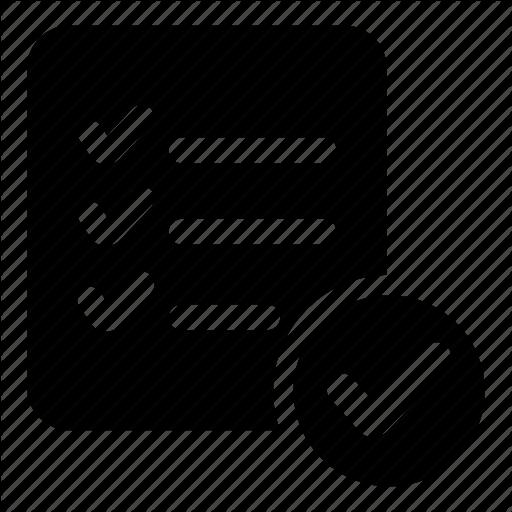 Checking, Checklist, Document, List, Verification, Verify Icon