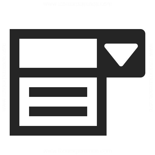 Drop Down List Icon Iconexperience