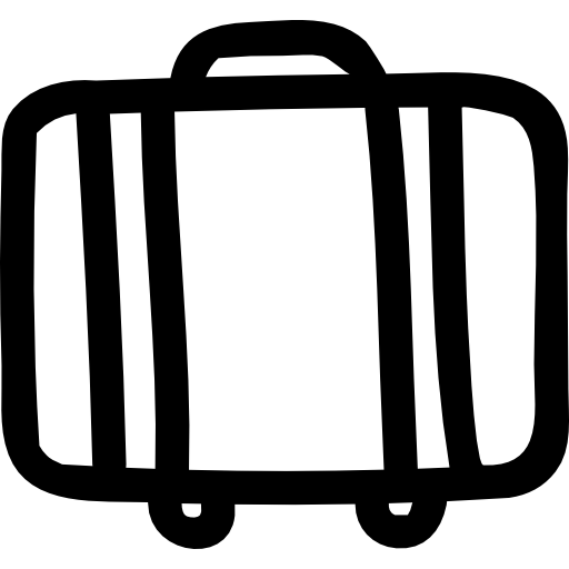 Baggage Suitcase Hand Drawn Outline From Side View Icon Hand