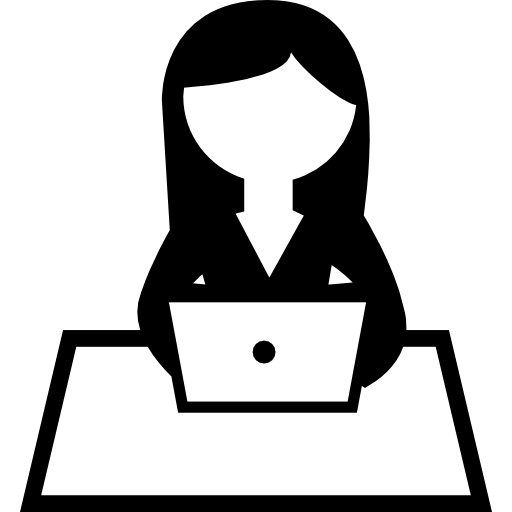 Girl Working On Computer Icons Free Download