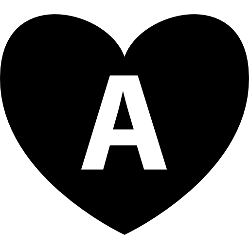 Heart With Letter A Inside Icons Free Download