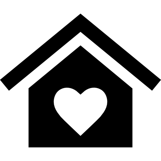 Home With A Heart Icons Free Download