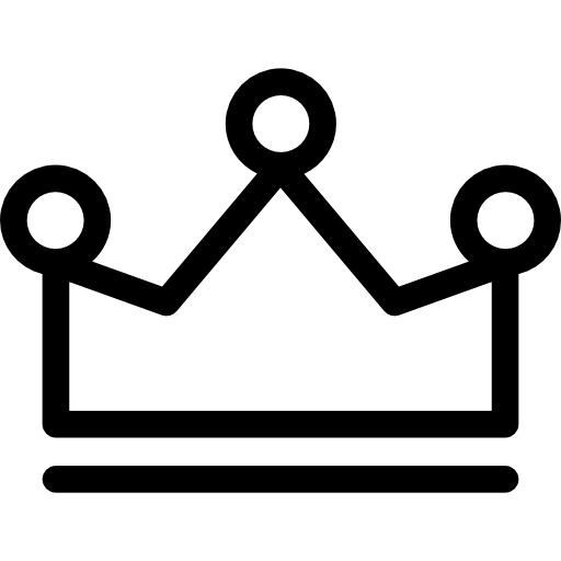 Royal Crown Outline With Three Little Balls On Top Icons Free