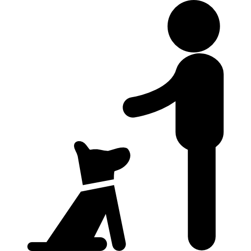Dog Puppy Sitting In Front Of His Man Icons Free Download