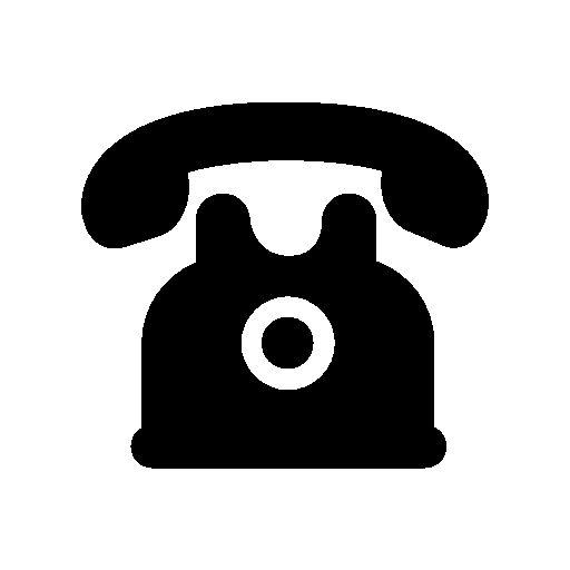 Telephone Of Black Vintage Design Free Vector Icons Designed