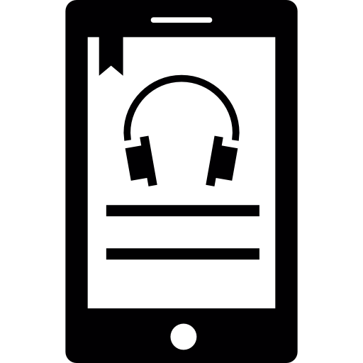 Listening To Music Using Cellphone Icons Free Download