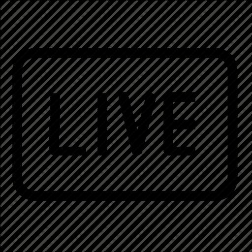 Broadcast, Live Icon