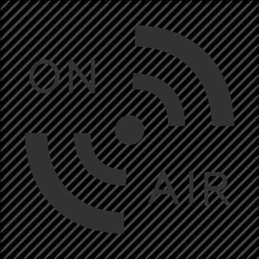 Broadcast, Live, Media, On Air, Podcast, Radio, Signal Icon