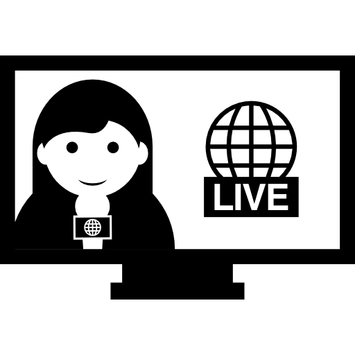 Live News Reporting Icons Free Download