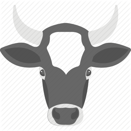 Animal, Cattle, Cow Head, Dairy Farming, Livestock Icon