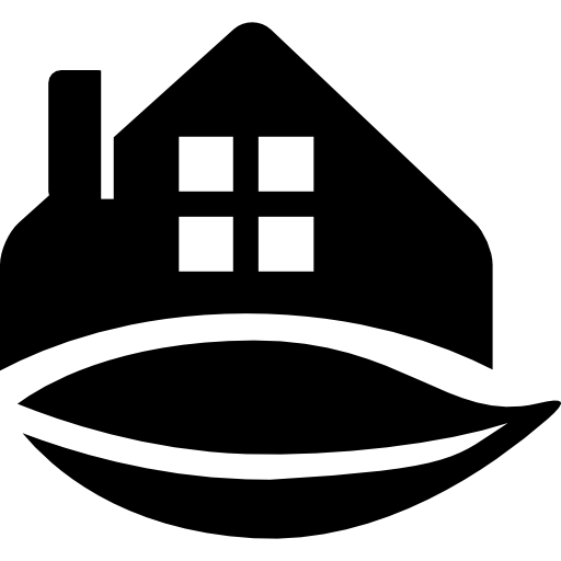 Rural Hotel Black Shape Icons Free Download