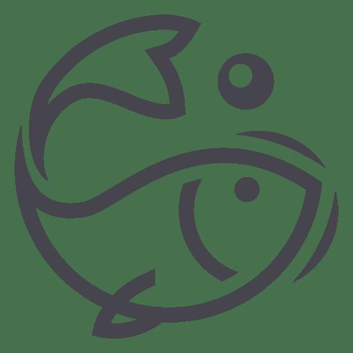 Fishing Fish Logo Icon