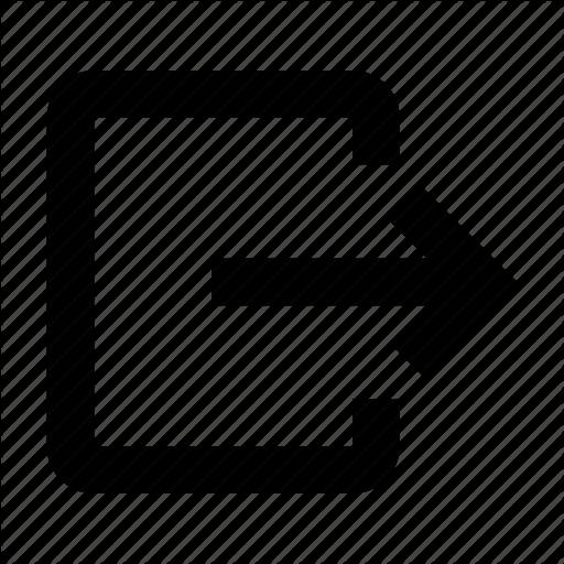 Arrow, Exit, Logout Icon