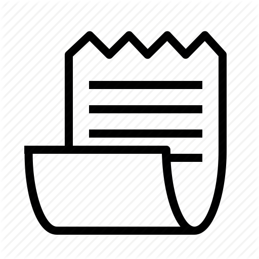 Mini, Receipt, Webshop Icon