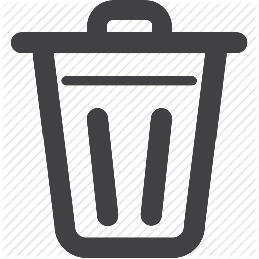 Trash, Delete, Bin, Empty Icon Symbols Trash Bins, Symbols, Logos