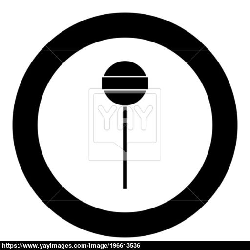 Lollipop Icon Black Color In Circle Vector
