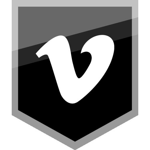 Vimeo Free Silver Shield Icon Alfredocreates Flat Icons