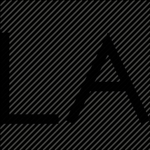 Angeles, La, Letters, Los, Sign Icon