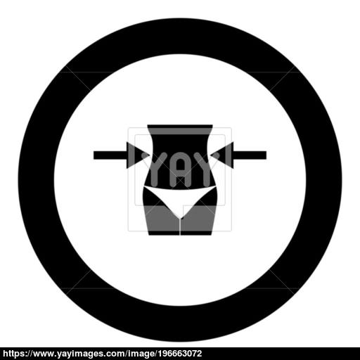 Slimming Woman Concept Black Icon In Circle Vector