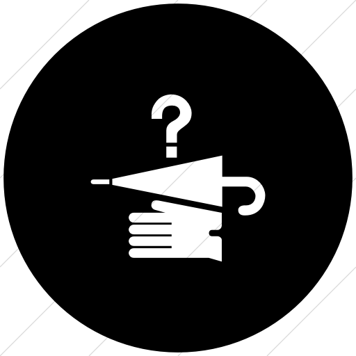 Flat Circle White On Black Aiga Lost And Found Icon