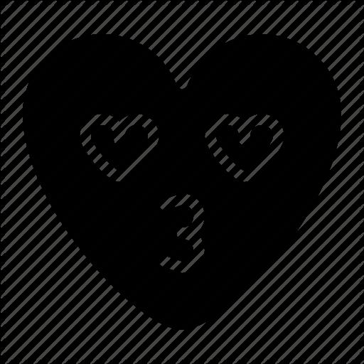 Emoji, Heart, Kiss, Love Icon