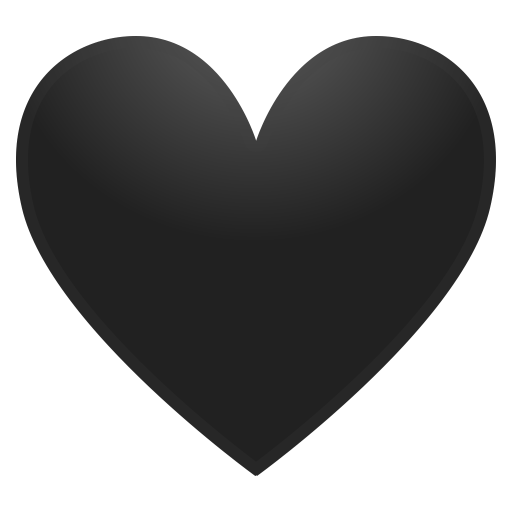 Black Heart Icon Noto Emoji People Family Love Iconset Google